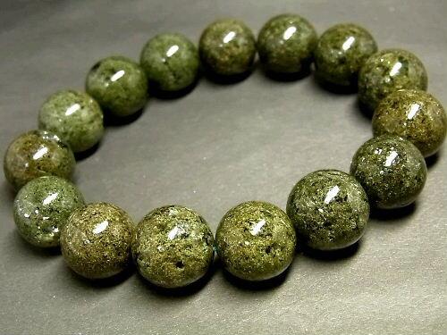 パワーストーン 天然石 ガーデンクォーツ 庭園水晶 ガーデン水晶 ブレスレット 14~15mm 【Felistone】 GardenB35