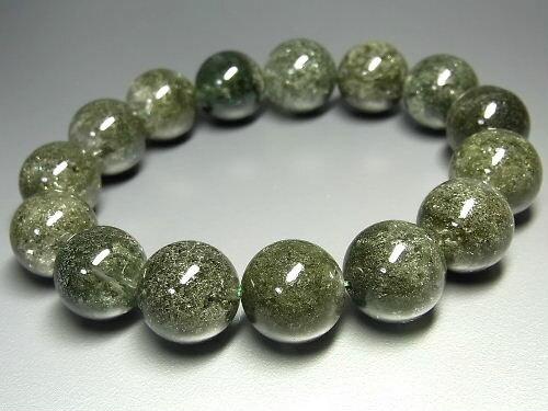 パワーストーン 天然石 大粒 ガーデンクォーツ 庭園水晶 ガーデン水晶 ブレスレット 15~16mm 【Felistone】 GardenB49