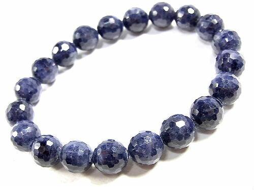 パワーストーン 天然石 サファイア 藍宝石 ブレスレット 9.5mm 【Felistone】 SapphireB02