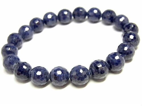 パワーストーン 天然石 サファイア 藍宝石 ブレスレット 9.5mm 【Felistone】 SapphireB06