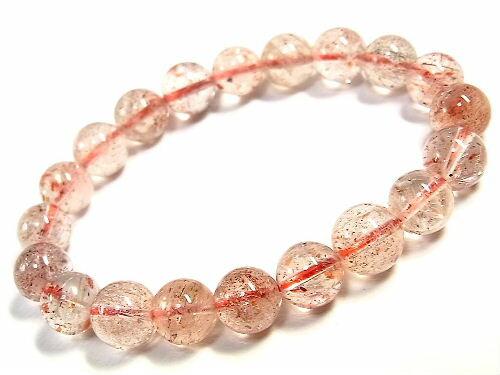 パワーストーン 天然石 ストロベリークォーツ 苺水晶 いちご水晶 ブレスレット 10mm 【Felistone】 StrawberryB01