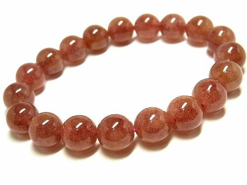パワーストーン 天然石 ストロベリークォーツ 苺水晶 いちご水晶 ブレスレット 11mm 【Felistone】 StrawberryB17