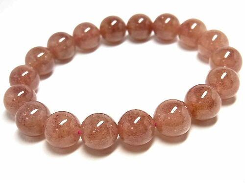 パワーストーン 天然石 ストロベリークォーツ 苺水晶 いちご水晶 ブレスレット 11~11.5mm 【Felistone】 StrawberryB21