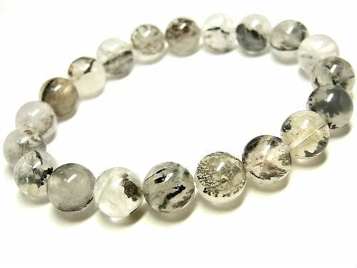 パワーストーン 天然石 デンドライト 模樹石 水晶ブレスレット 10mm 【Felistone】 DendriteB04