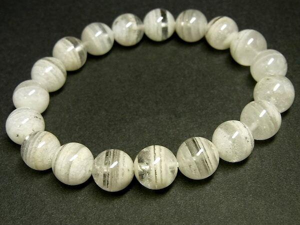 パワーストーン 天然石 白色千層ファントムクォーツ 水晶ブレスレット 10mm 【Felistone】 PhantomB60
