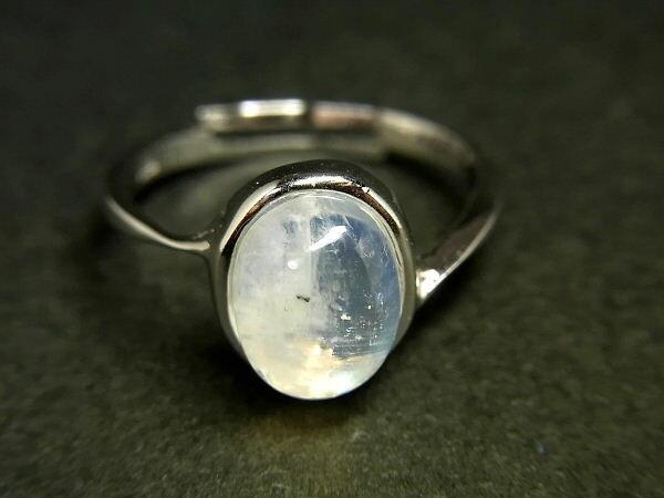 パワーストーン 天然石 ムーンストーン 月長石 指輪 リング フリーサイズ MoonstoneR04 【Felistone】