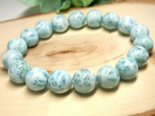 パワーストーン 天然石 最高級 ラリマー ブルー・ペクトライト ブレスレット 11~11.5mm 【Felistone】 LarimarB07