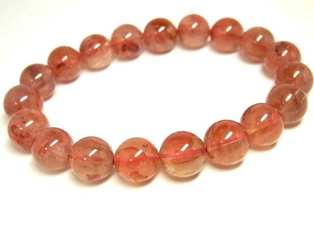 パワーストーン 天然石 赤水晶 レッドクォーツ 赤鉄水晶 ブレスレット 11~11.5mm 【Felistone】 RedQuartzB22