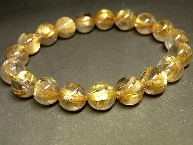 パワーストーン 天然石 タイチンルチル ルチルクォーツ 水晶ブレスレット 10.5~11mm 【Felistone】 TRB1057
