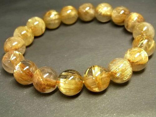 パワーストーン 天然石 タイチンルチル ルチルクォーツ 水晶ブレスレット 11~11.5mm 【Felistone】 TRB602