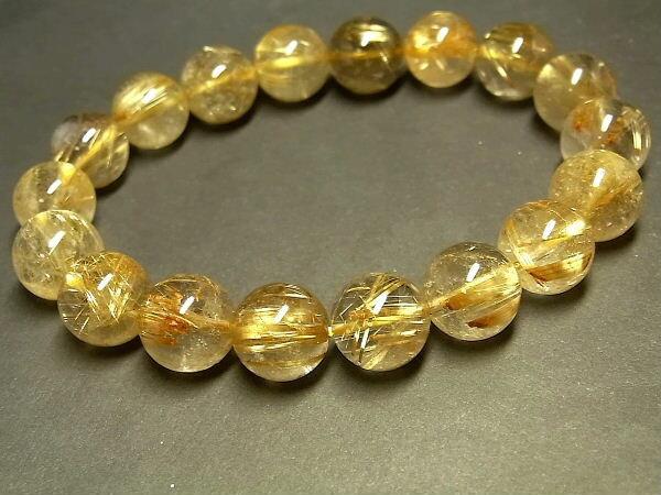 パワーストーン 天然石 タイチンルチル ルチルクォーツ 水晶ブレスレット 11.5~12mm 【Felistone】 TRB658