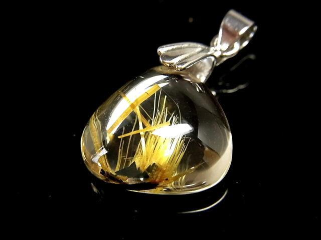パワーストーン 天然石 最高級 高透明 タイチンルチル ルチルクォーツ 水晶 ペンダント TRP145 【Felistone】