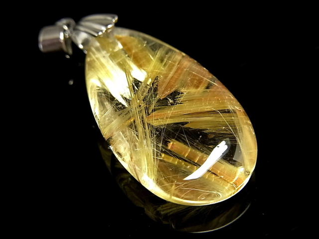 パワーストーン 天然石 高透明 タイチンルチル ルチルクォーツ 水晶 ペンダント TRP149 【Felistone】