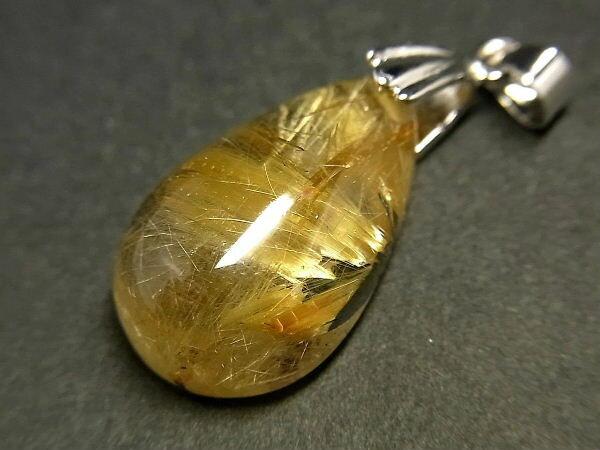 パワーストーン 天然石 タイチンルチル ルチルクォーツ 水晶 ペンダント TRP112 【Felistone】