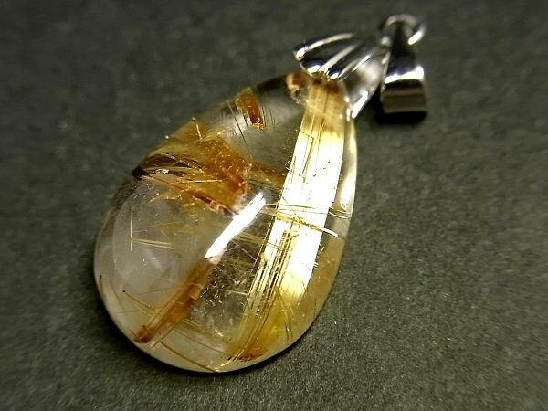 パワーストーン 天然石 タイチンルチル ルチルクォーツ 水晶 ペンダント TRP113 【Felistone】