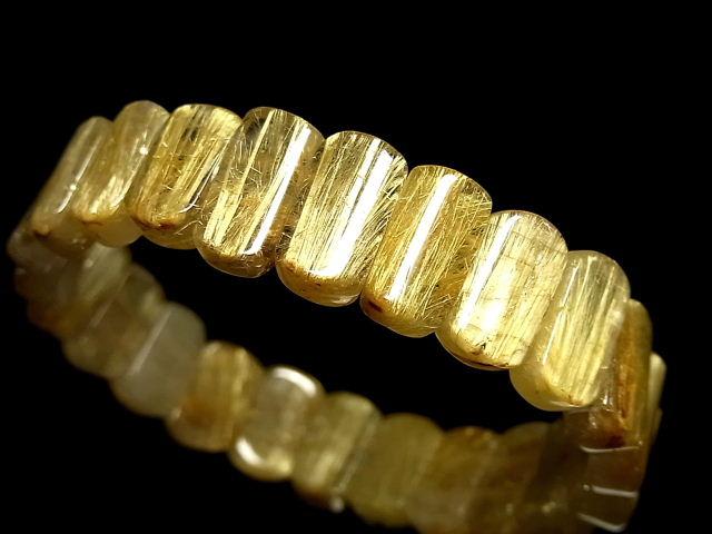 パワーストーン 天然石 極上高品質 タイチンルチル ルチルクォーツ 水晶 バングル TRB994 【Felistone】