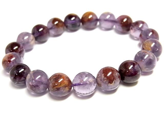 パワーストーン 天然石 アメジスト ガーデン入り紫水晶 ブレスレット 10.5mm 【Felistone】 AmethystB08