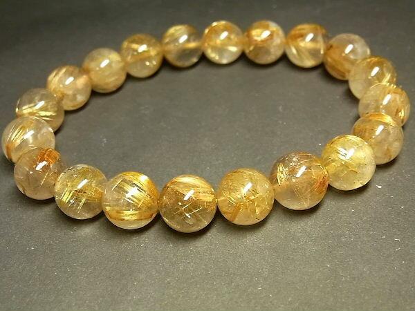 パワーストーン 天然石 タイチンルチル ルチルクォーツ 水晶ブレスレット 10~10.5mm 【Felistone】 TRB834