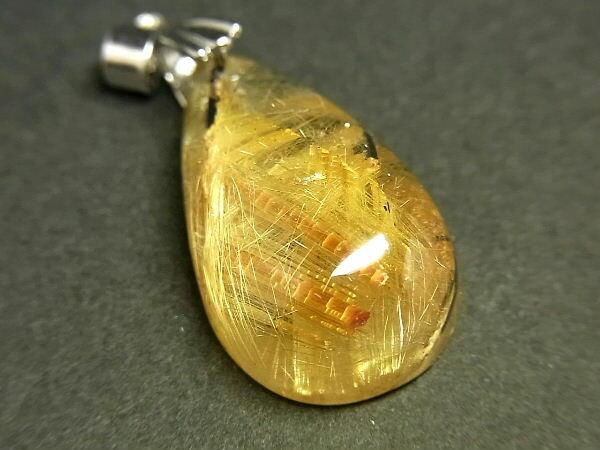 パワーストーン 天然石 タイチンルチル ルチルクォーツ 水晶 ペンダント TRP128 【Felistone】