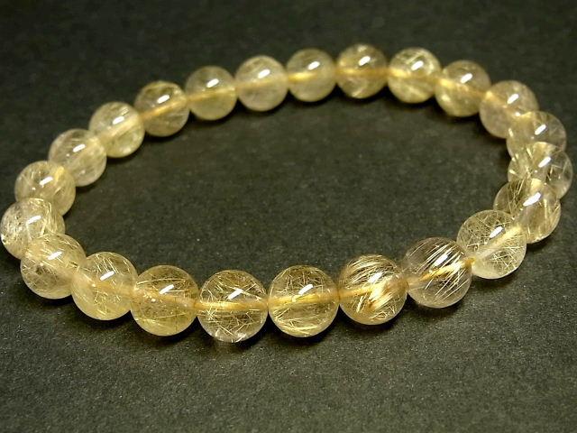 パワーストーン 天然石 タイチンルチル ルチルクォーツ 水晶ブレスレット 8~8.5mm 【Felistone】 TRB895