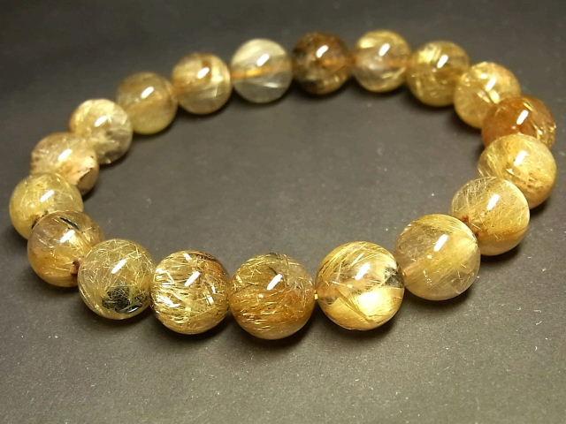 パワーストーン 天然石 タイチンルチル ルチルクォーツ 水晶ブレスレット 11mm 【Felistone】 TRB911