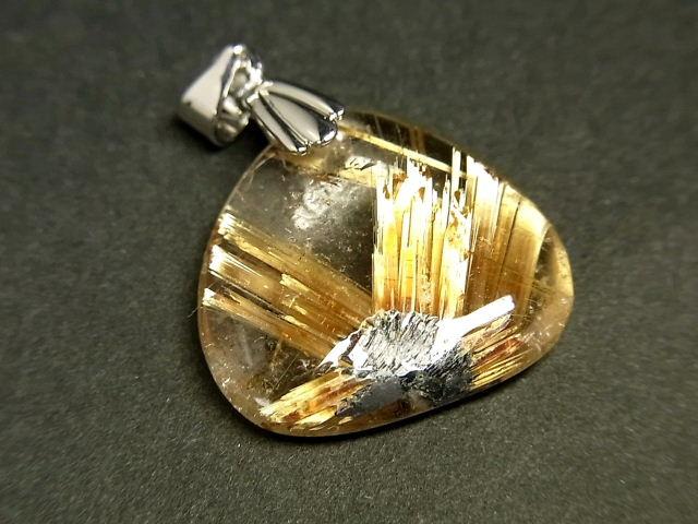 パワーストーン 天然石 タイチンルチル ルチルクォーツ 水晶 ペンダント TRP139 【Felistone】