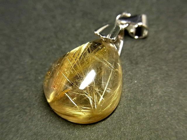 パワーストーン 天然石 タイチンルチル ルチルクォーツ 水晶 ペンダント TRP150 【Felistone】