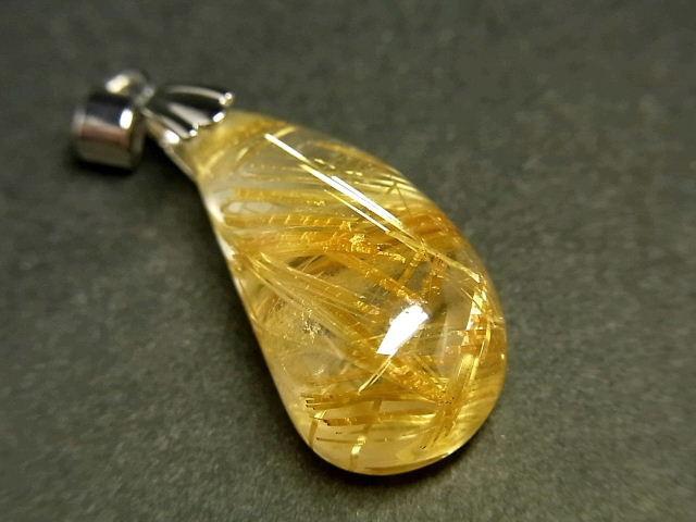 パワーストーン 天然石 タイチンルチル ルチルクォーツ 水晶 ペンダント TRP152 【Felistone】