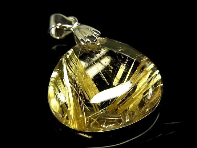 パワーストーン 天然石 最高級 高透明 タイチンルチル ルチルクォーツ 水晶 ペンダント TRP158 【Felistone】