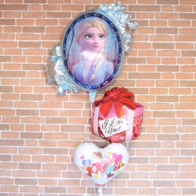 アナと雪の女王&プレゼントヘリウムバルーンギフト【誕生日 キャラクター プレゼント パーティー バルーン バースディ ディズニー ヘリウム ヘリウムガス 送料無料】