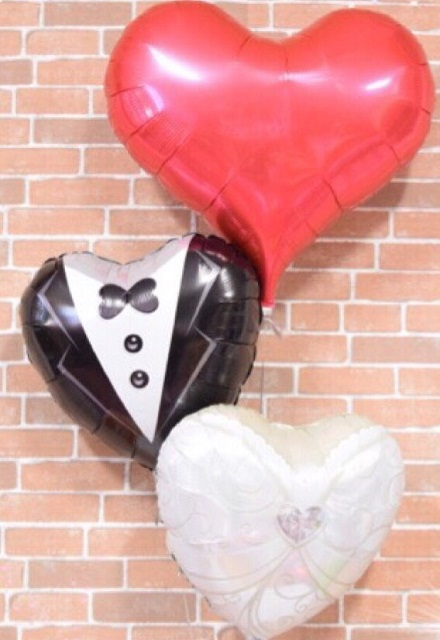 ウェディングバルーンギフト【結婚式 バルーン 二次会 バルーン電報 イベント ヘリウム バルーンギフト 送料無料】