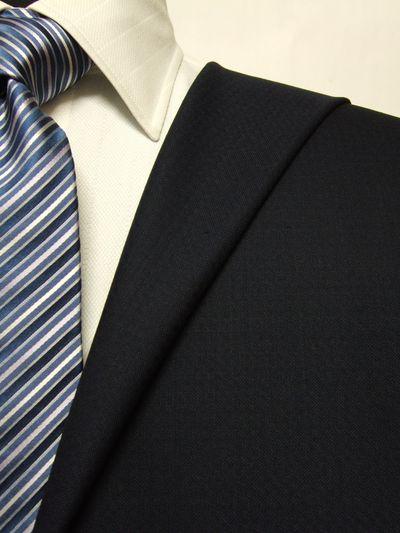 ロイヤルステージ ネイビー系 織柄 オーダースーツ 秋冬用素材 ウール100% ポリ0% 5cc807