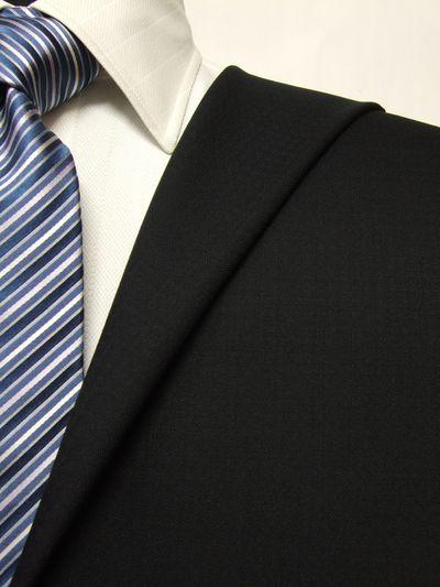 フラッグシップ ブラック系 織柄 オーダースーツ 秋冬用素材 ウール100% ポリ0% 87455-10