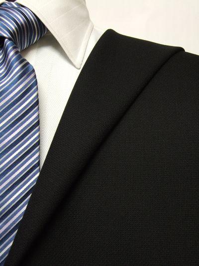 ファーストコレクション ブラック系 織柄 オーダースーツ 秋冬用素材 ウール100% ポリ0% 87457-12