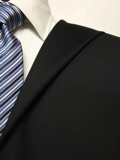 エルメネジルド・ゼニア ネイビー系 無地 オーダースーツ 秋冬用素材 ウール100% ポリ0% 87801-29