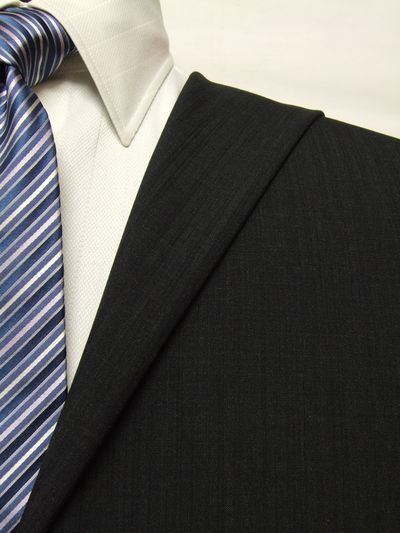 ファーストコレクション グレー系 シャドー ストライプ オーダースーツ 春夏用素材 ウール70% ポリ30% 85402-41