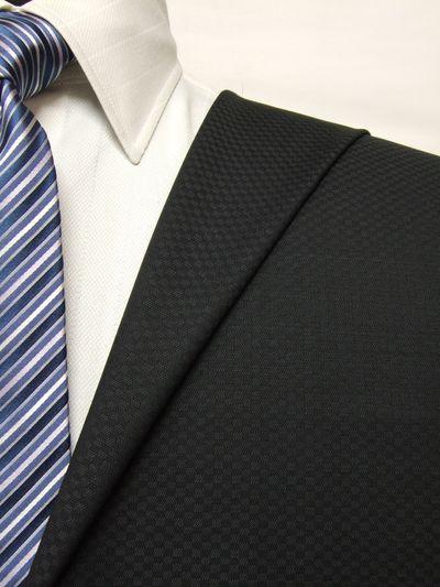 カノニコ グレー系 織柄 オーダースーツ 春夏用素材 ウール100% ポリ0% 85851-48