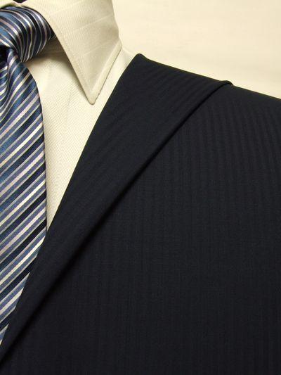 レダ ネイビー系 シャドー ストライプ オーダースーツ 春夏用素材 ウール100% ポリ0% 85874-34