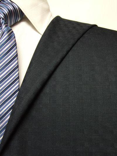 エグゼグティブ グレー系 織柄 オーダースーツ 秋冬用素材 ウール70% ポリ30% 5cc932