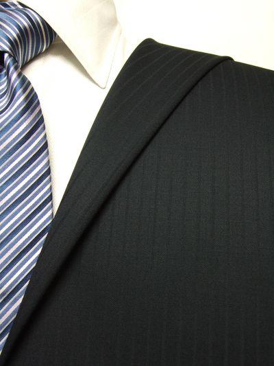 プレミアム ネイビー系 シャドー ストライプ オーダースーツ 秋冬用素材 ウール100% ポリ0% 87523-22