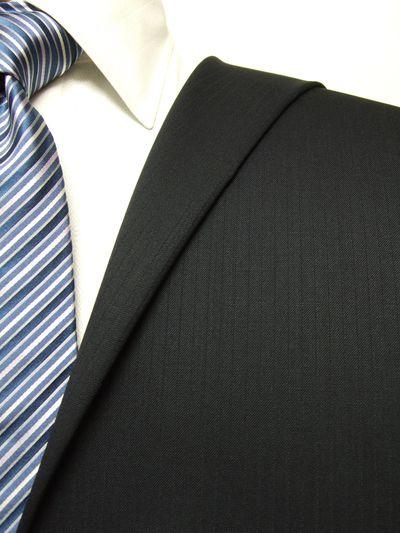 ファーストコレクション ネイビー系 シャドー ストライプ オーダースーツ 秋冬用素材 ウール50% ポリ50% 97415-26
