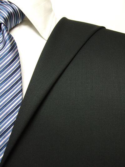 ファーストコレクション ブラック系 無地 オーダースーツ 秋冬用素材 ウール50% ポリ50% 97422-12