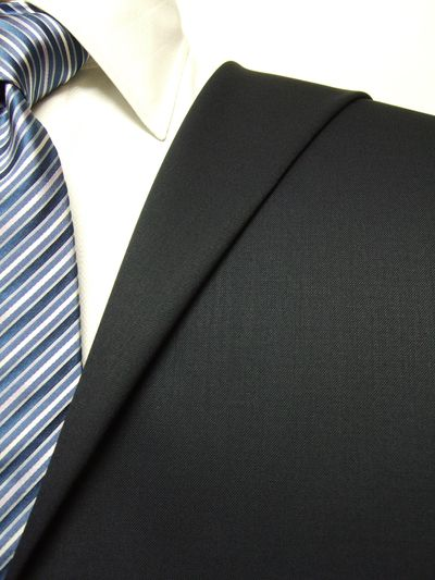 ファーストコレクション ネイビー系 無地 オーダースーツ 秋冬用素材 ウール50% ポリ50% 97422-20