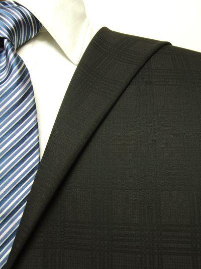 フラッグシップ ブラウン系 シャドー チェック オーダースーツ 秋冬用素材 ウール100% ポリ0% 97436-69
