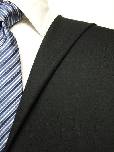 フラッグシップ ブラック系 織柄 オーダースーツ 秋冬用素材 ウール100% ポリ0% 97437-10