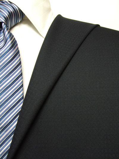 フラッグシップ ネイビー系 織柄 オーダースーツ 秋冬用素材 ウール100% ポリ0% 97437-36