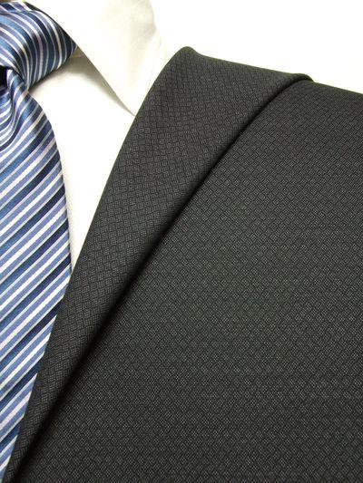 フラッグシップ グレー系 織柄 オーダースーツ 秋冬用素材 ウール100% ポリ0% 97437-52
