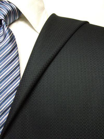 フラッグシップ ネイビー系 織柄 オーダースーツ 秋冬用素材 ウール100% ポリ0% 97438-20