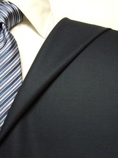 エルメネジルド・ゼニア15 milmil 15 ネイビー系 織柄 オーダースーツ 秋冬用素材 ウール100% ポリ0% 97802-38