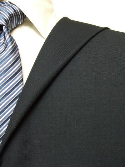 レダ ネイビー系 無地 オーダースーツ 秋冬用素材 ウール100% ポリ0% 97820-28